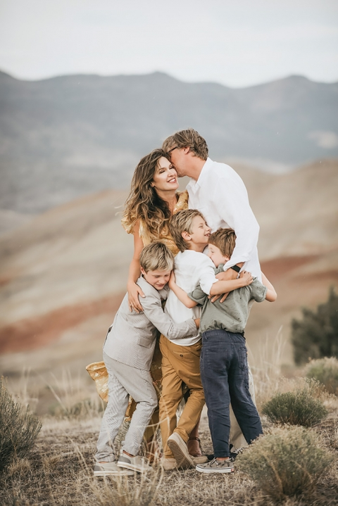 Painted Hills Oregon Family Portrait Session